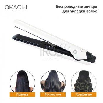 Бездротові щипці випрямляч для укладання волосся OKACHI GLIYA