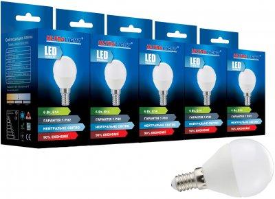Світлодіодна лампа Ultralight LED P45 6W 4100K E14 ЕКО (UL-51880) 5 шт.