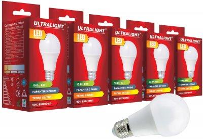 Світлодіодна лампа Ultralight LED A60 10W 3000K E27 (UL-51883) 5 шт.