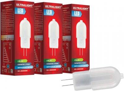 Світлодіодна лампа Ultralight LED G4 2 W 4100 K 12V (UL-51893) 3 шт.