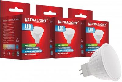 Світлодіодна лампа Ultralight LED MR16 6 W 4100 K G5.3 (UL-51895) 3 шт.