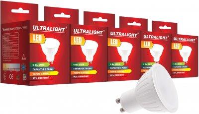 Світлодіодна лампа Ultralight LED MR16 6 W 3000 K GU10 (UL-51900) 5 шт.