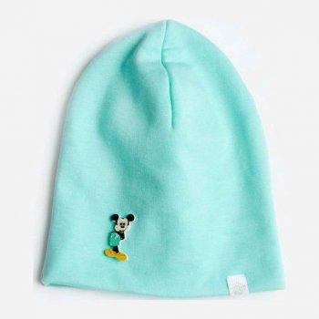 Демисезонная шапка Модный карапуз 03-01097-0 52-54 см Бирюзовая (4824868410971)