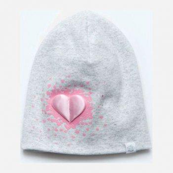 Демисезонная шапка Модный карапуз 03-01098-1 48-50 см Светло-серая (4824869810985)