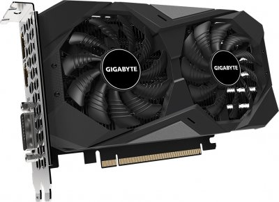 Gigabyte PCI-Ex GeForce GTX 1650 D6 Windforce 4GB GDDR6 (128bit) (1590/12000) (DVI-D, HDMI, DisplayPort) (GV-N1656WF2-4GD)