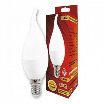 Світлодіодна лампа C37L Свічка на вітрі 6W 4000K E14 IC