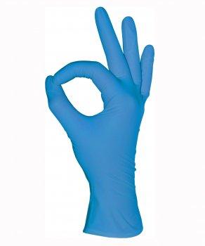 Перчатки нитриловые, голубые, L (100шт), Mediok Nitrile Optima