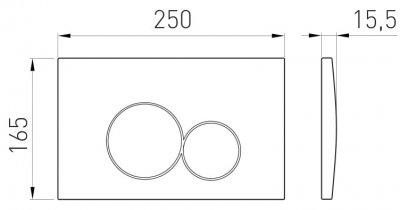 Панель смыва VOLLE VISO EVO 222122 матовый хром