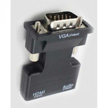 Конвертер HDMI-VGA OUT Чорний (zx-6737)