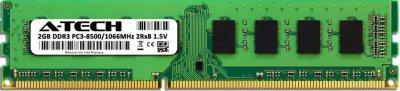 Оперативная память A-Tech 2GB DDR3-1066 (PC3-8500) DIMM 2Rх8 (AT2G1D3D1066ND8N15V)