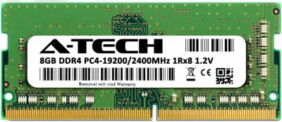 Оперативная память A-Tech 8GB DDR4-2400 (PC4-19200) SODIMM 1Rx8 (AT8G1D4S2400NS8N12V)