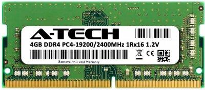 Оперативная память A-Tech 4GB DDR4-2400 (PC4-19200) SODIMM 1Rx16 (DDR4/2400C17R1_16S/4G)