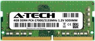 Оперативная память A-Tech 4GB DDR4-2133 (PC4-17000) SODIMM 1Rx8 (DDR4/2133C15R1S/4G)