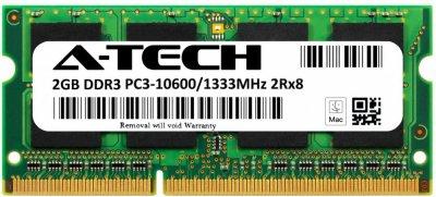 Оперативная память A-Tech 2GB DDR3-1333 (PC3-10600) SODIMM 2Rх8 (AT2G1D3S1333ND8N15V)