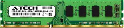 Оперативная память A-Tech 2GB DDR3-1333 (PC3-10600) DIMM 2Rх8 (AT2G1D3D1333ND8N15V)