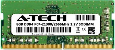 Оперативная память A-Tech 8GB DDR4-2666 (PC4-21300) SODIMM 1Rx8 (AT8G1D4S2666NS8N12V)