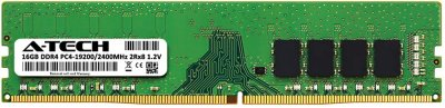 Оперативная память A-Tech 16GB DDR4-2400 (PC4-19200) DIMM 2Rx8 (AT16G1D4D2400ND8N12V)