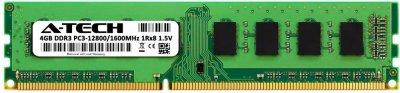 Оперативная память A-Tech 4GB DDR3-1600 (PC3-12800) DIMM 1Rx8 (AT4G1D3D1600NS8N15V)