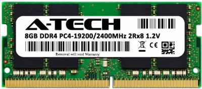 Оперативная память A-Tech 8GB DDR4-2400 (PC4-19200) SODIMM 2Rx8 (AT8G1D4S2400ND8N12V)