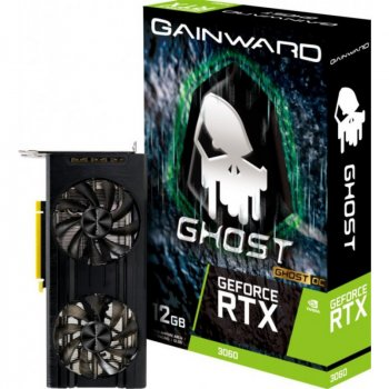 Відеокарта Gainward PCI-Ex GeForce RTX 3060 Ghost OC 12GB GDDR6 (192bit) (1837/15000) (3 x DisplayPort, HDMI) (NE63060T19K9-190AU)