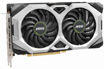 MSI PCI-Ex GeForce RTX 2060 Ventus GP OC 6GB GDDR6 (192bit) (1710/14000) (HDMI, 3 x DisplayPort) (RTX 2060 VENTUS GP OC)