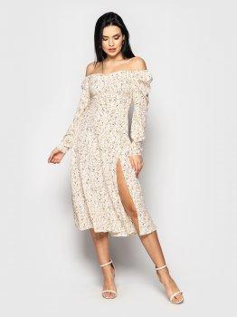Плаття Larionoff Mirabella Молочне гілочка