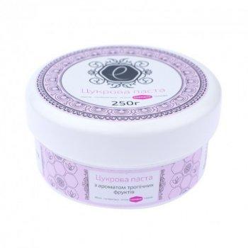 """Рожева цукрова паста для шугарінга """"Середня"""" з ароматом тропічних фруктів Enova, 250 мл"""