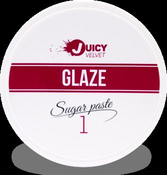 """Цукрова паста для шугарінга """"Бандажна ультра м'яка - 1"""" Velvet Juicy Glaze, 150 гр"""