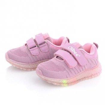 Кросівки з мигалками для дівчинки CLIBEE F825B Рожевий КВ0543