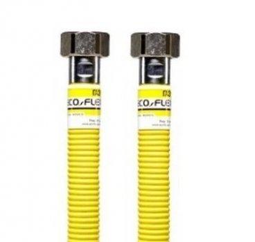 "Шланг для газу з нерж. сталі Eco-Flex Супер d12 1/2"" ВВ 250 см ПВХ-покриття"