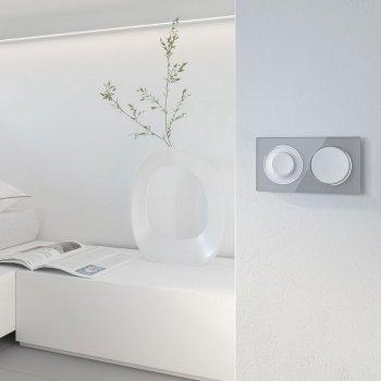 Двойная горизонтальная рамка OneKeyElectro Garda Серая (2E52201302)