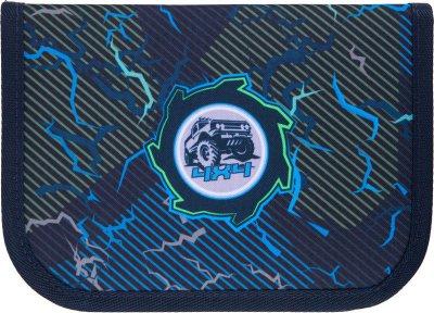 Пенал з наповненням Kite Education Cross-country 1 відділення 2 закоти Темно-синій (K21-622H-6)