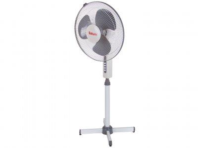 Вентилятор підлоговий з функцією обертання SATURN ST-FN8266 40Вт white/gray (3347)