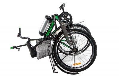 Электровелосипед складной Formula Smart складной передний привод с заниженной рамой 36V 10 Ah 350 Вт черно-зеленый (FS21CHZ)
