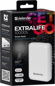 УМБ Defender ExtraLife 10000 mAh White (83650)