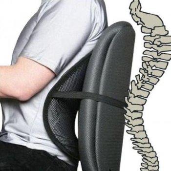 Подставка для спины каркасная серая