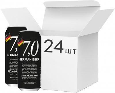 Упаковка пива 7,0 German Beer Pils bier светлое фильтрованное 5% 0.5 л x 24 шт (4014086073336)