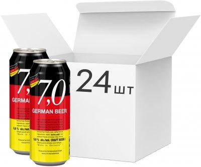 Упаковка пива 7,0 German Beer Craft bier светлое нефильтрованное 5.6% 0.5 л x 24 шт (4014086073496)