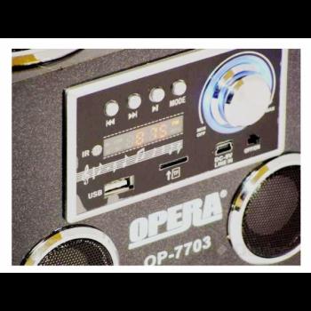 Портативна колонка Opera OP-7703 Радіоприймач-колонка Акустична система