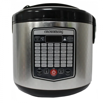Мультиварка Crownberg CB 5525 Функция йогуртницы Пароварка 5л 860W на 42 программы