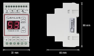 Модуль, призначений для вентиляторів з EC-двигуном, FC600-M 0-10V
