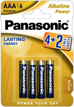 Батарейка Panasonic Power AAA BLI 4+2 Alkaline (LR03REB/6B2F)