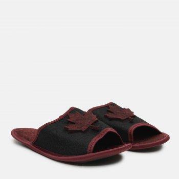 Комнатные тапочки FX shoes 2019 Черно-бордовые