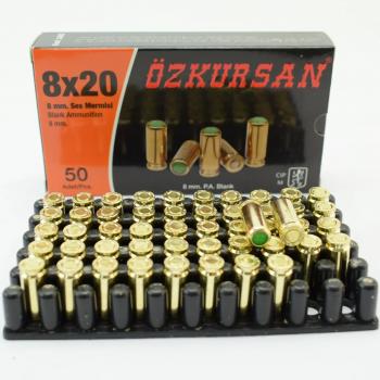 Холостий Патрон Ozkursan 8 mm 50 шт