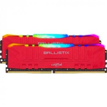 Модуль памяти Crucial DDR4 16GB (2x8GB) 3200 Ballistix Red RGB (BL2K8G32C16U4RL)