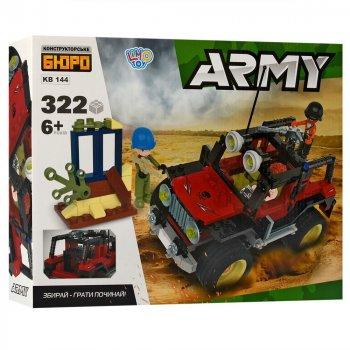 Конструктор Limo Toy Военный Джип КВ 144, 322 дет, 38-29,5-6,5 см
