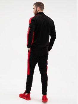 Спортивний костюм ISSA PLUS SG-15_чорний/червоний Чорний з червоним