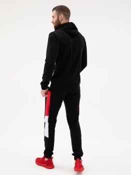 Спортивний костюм ISSA PLUS SG-16_чорний/червоний Чорний з червоним