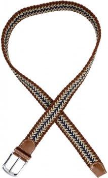 Мужской ремень Traum 8718-56 95 см Синий с коричневый (4820008718563)