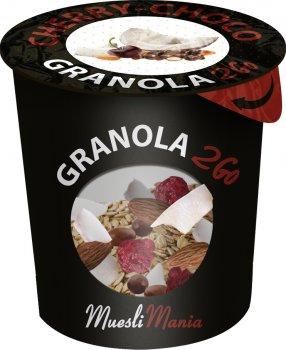 Упаковка гранола с вишней и кокосом Muesli Mania Cherry Choco 6 шт х 70 г (6k-4820220140012)